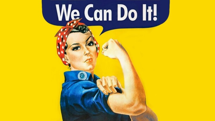 We Can Do It! Rosie the riveter Spot laundromats sanitizing