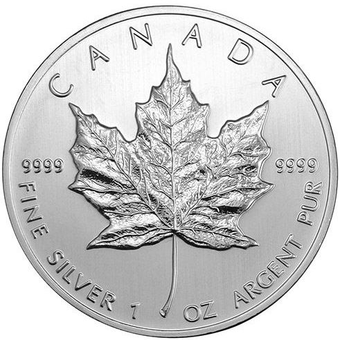 2017 Canadian Silver Maple Leaf Obverse