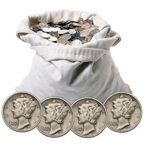 Scmercdimes100fv Bag With Coins