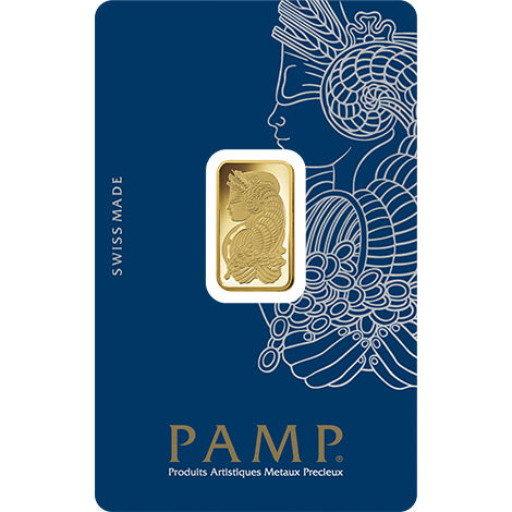 5 Gram Pamp Suisse Fortuna Veriscan Gold Bar New W Ay