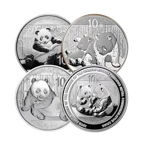 1 Oz Chinese Silver Panda Coin Varied