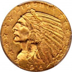 1916 Indian Head 5 Gold Coin Value