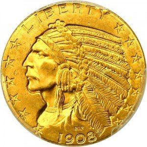 Indian Head $5 Gold Coin (1908-1929) Value | JM Bullion™