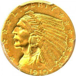 Indian Head $2 5 Gold Coin (1908-1929) Value | JM Bullion™