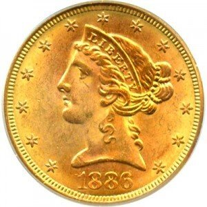 Liberty 5 Gold Coin 1839 1908 Value
