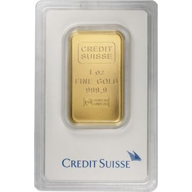 Buy 1 Oz Credit Suisse 9999 Gold Bars Online L Jm Bullion