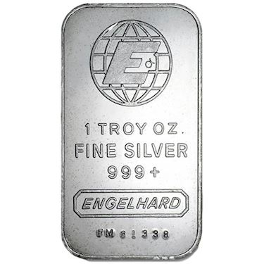 1 Troy Oz Fine Silver 999 Engelhard Value October 2019