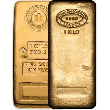 1 Kilo Gold Bar Varied Any Mint