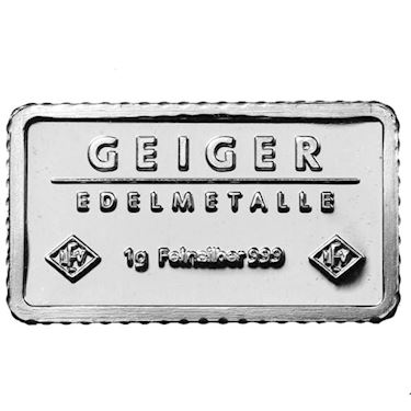 1 Gram Geiger Silver Bar New