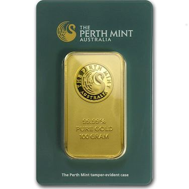 100 Gram Perth Mint Gold Bar New W Ay