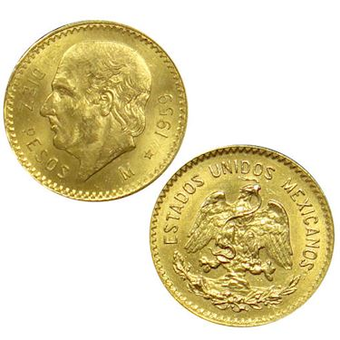 10 Peso Mexican Gold Coin (Random Year, Varied Condition)