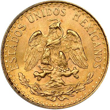 2 Peso Mexican Gold Coin (Random Year, Varied Condition)