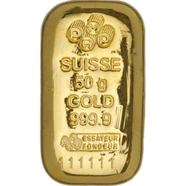 50 Gram Pamp Suisse Gold Bar New Cast W Ay