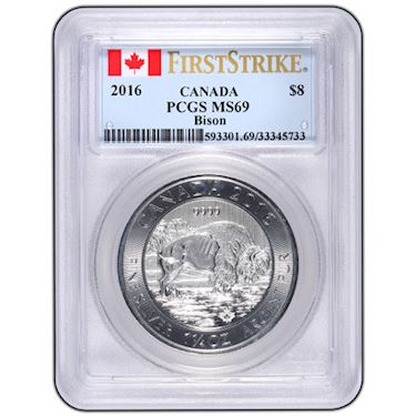 Buy 2016 1 25 Oz Canadian Silver Bisons Pcgs Ms69 Fs Jm Bullion