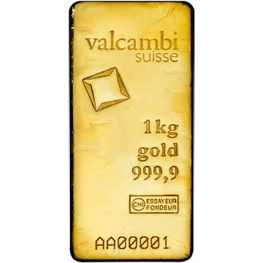 1 Kilo Valcambi Cast Gold Bar New W Ay