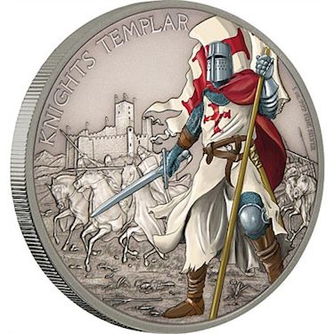 2017 1 oz Silver Warriors of History Knights Templar Coins l