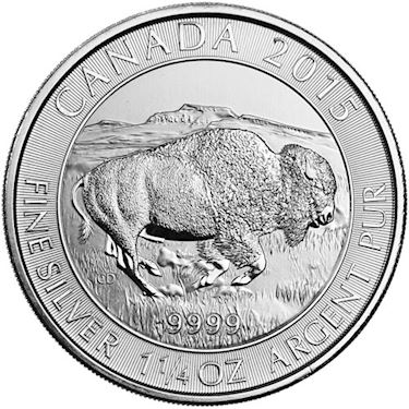 Buy 1 25 Oz Canadian Silver Bison Coins Random Year Jm Bullion