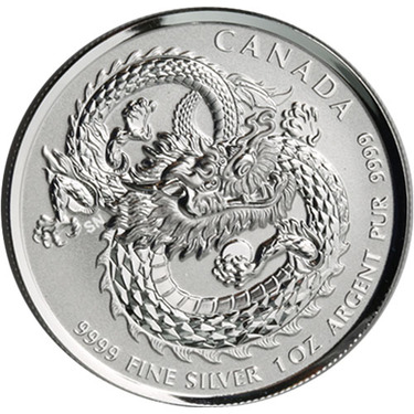 2019 1 Oz Canadian Lucky Dragon High Relief Silver Coin L Jm Bullion