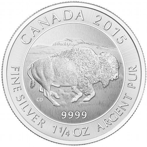 Jmb Exclusive 2015 1 25 Oz Canadian Silver Bison Coin Jm Bullion